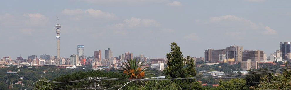 Johannesburg's skyline viewed from the hills. Dante Harker