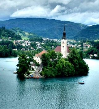 Photogenic Lake Bled, Slovenia