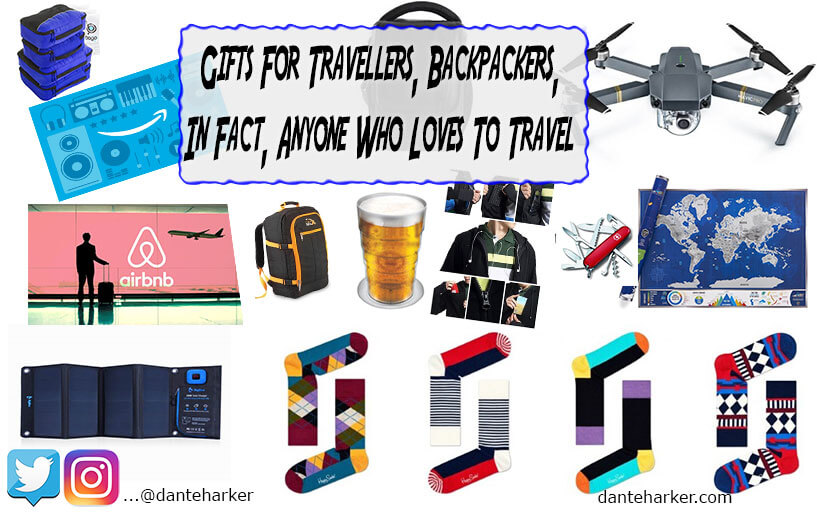Gifts for travellers, backpackers, in fact anyone who loves to travel