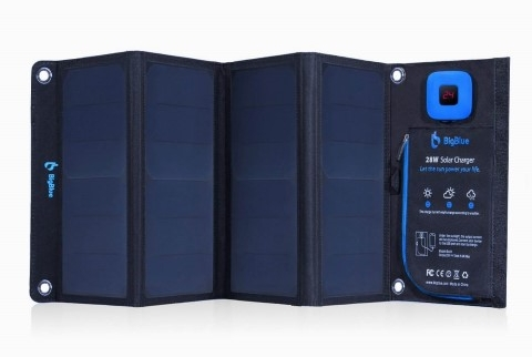 BigBlue 28W Portable Solar Charger Dual USB Ports
