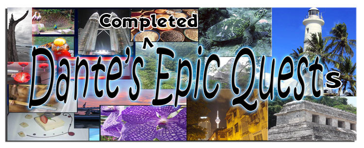 Dante's Completed Epic Quests