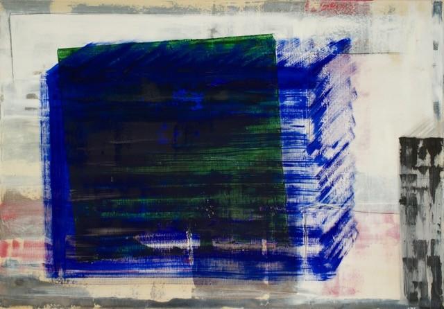 blauer Würfel