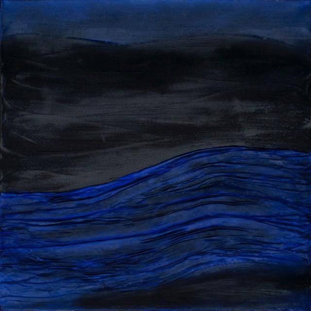 Falten in blau