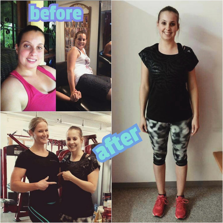 Vorher Nachher Before and After Erfolg Diät Krafttraining Personal Training Ernährungsberatung