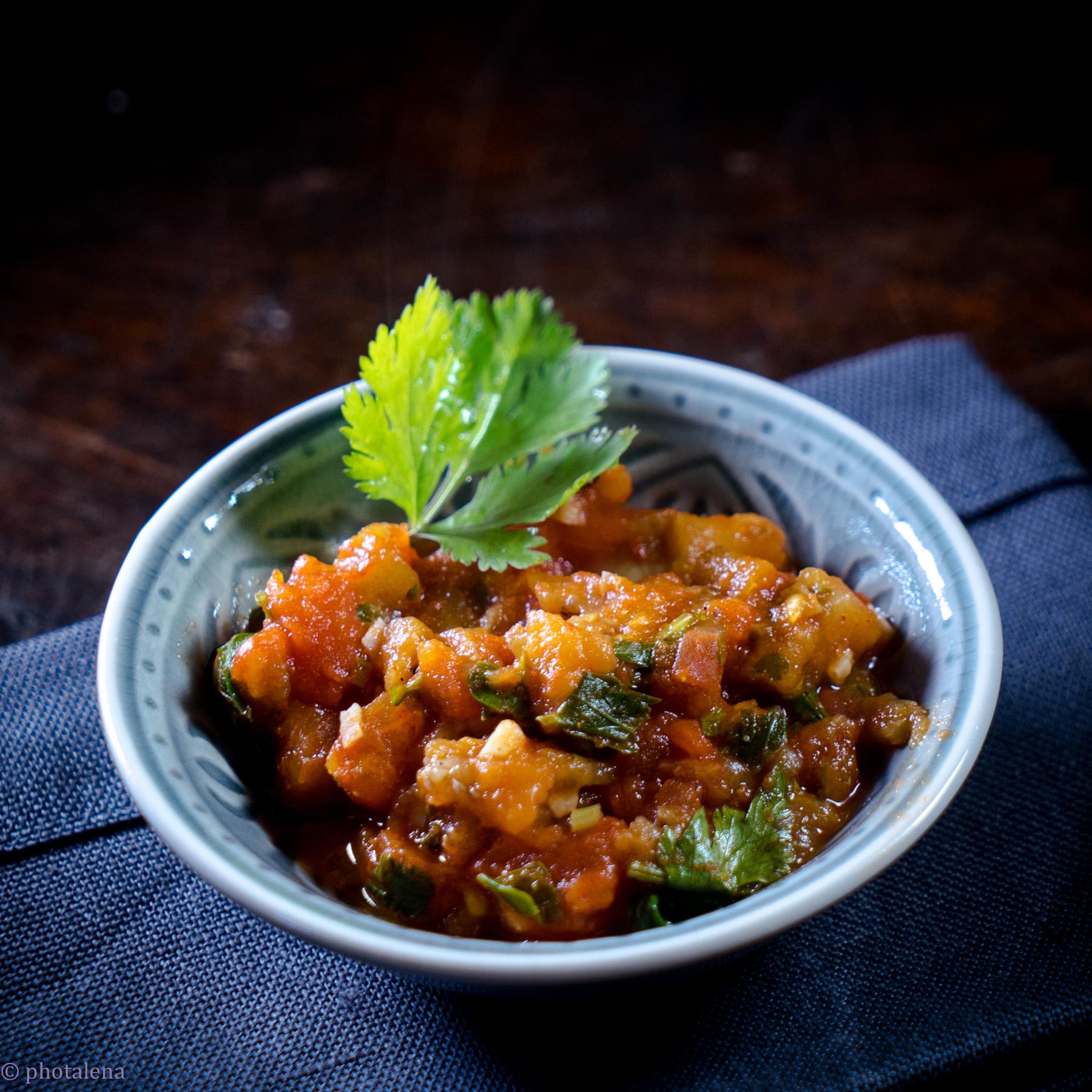 Tomaten-Auberginen-Salat