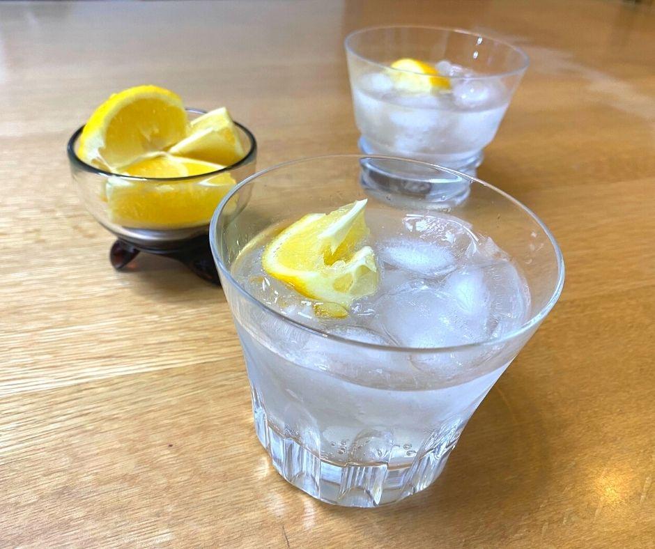 レモンソーダでおいしくいただきました。