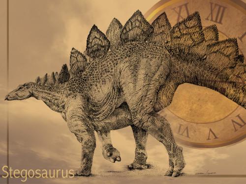 ペン0.1ミリのみで恐竜描いて見た♪