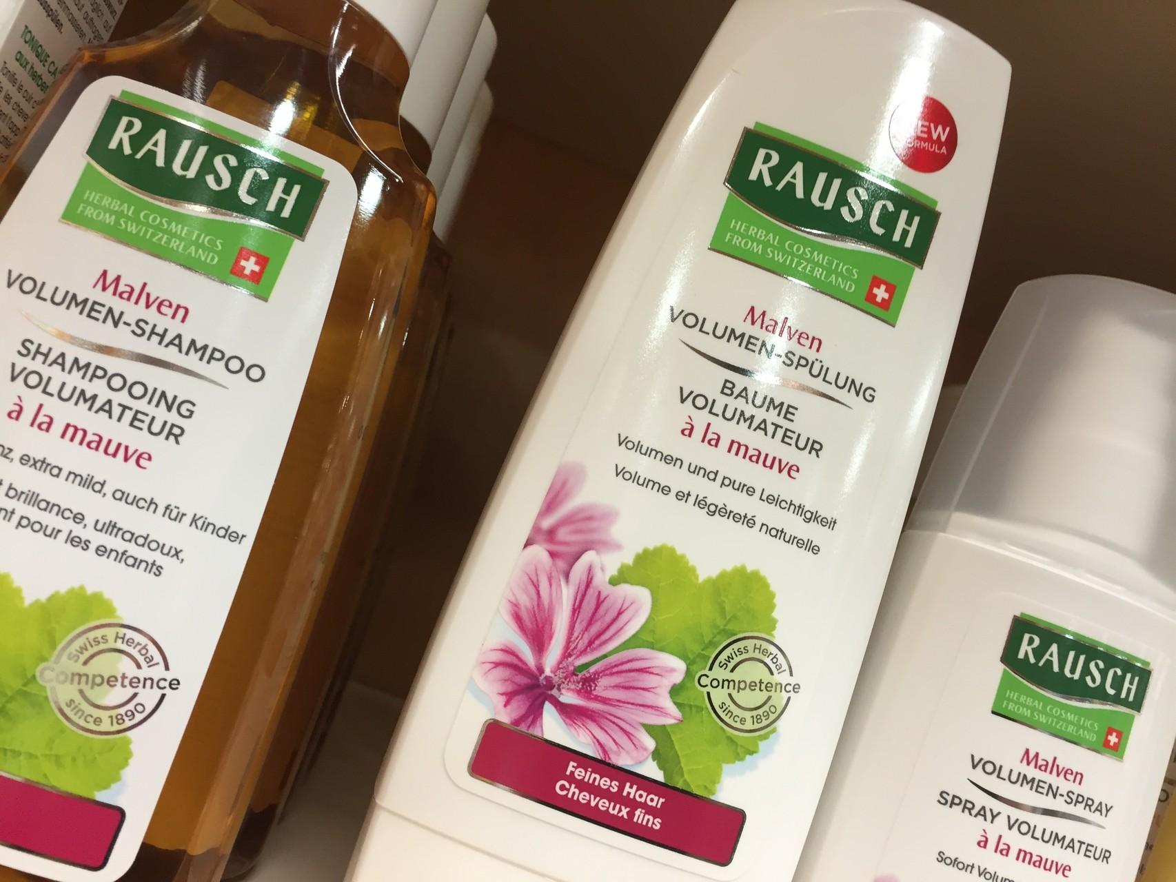 ... bei feinem Haar: Malven Volumen - Shampoo, Malven Volumen - Spülung, Malven Volumen - Spray.