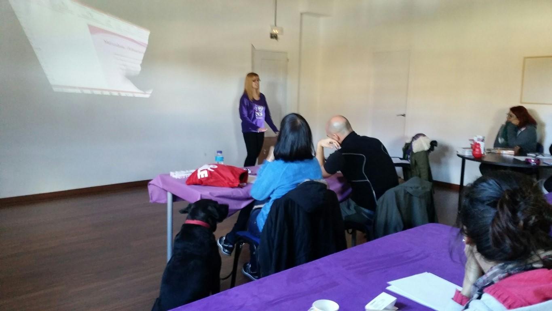 Eva impartiendo el seminario