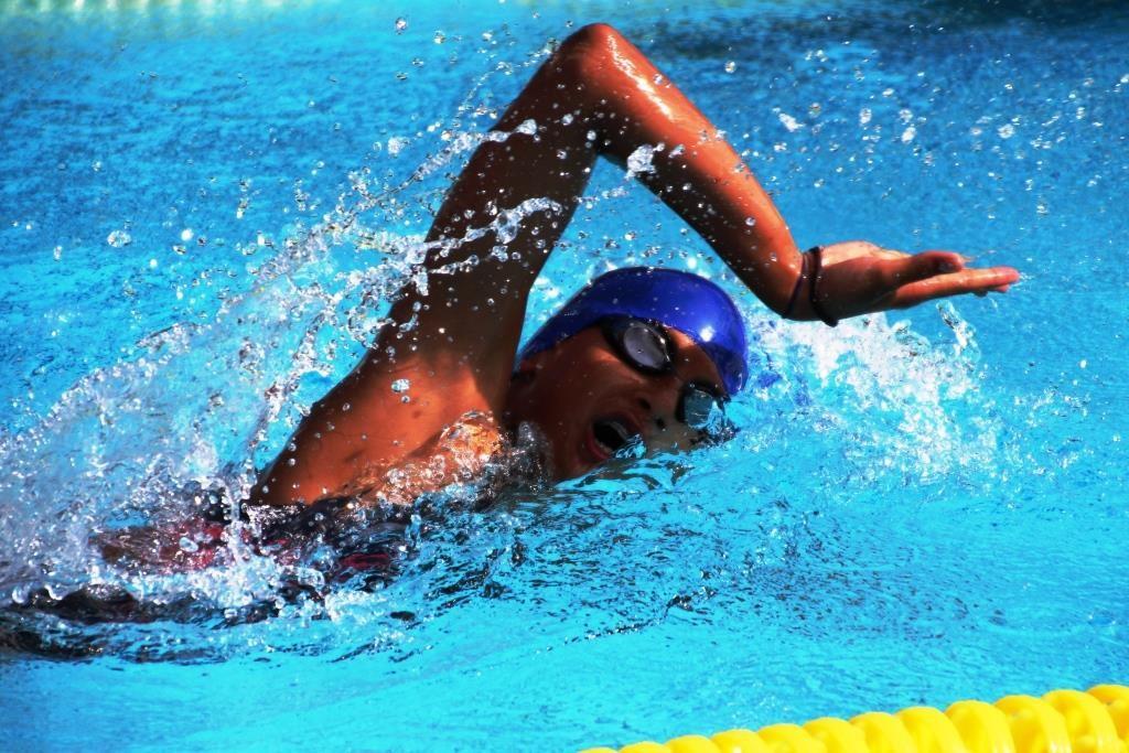 Freistilschwimmerin