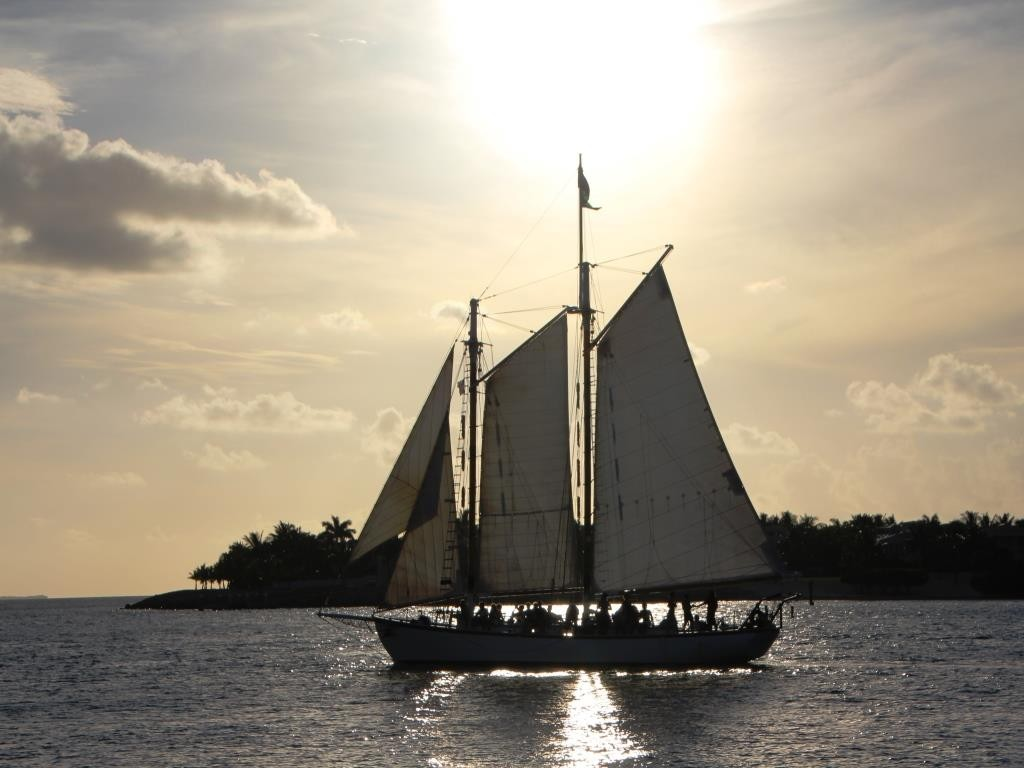Segler beim Mallory Square, Key West, USA