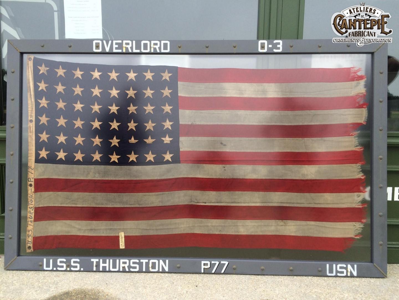 Encadrement de drapeau