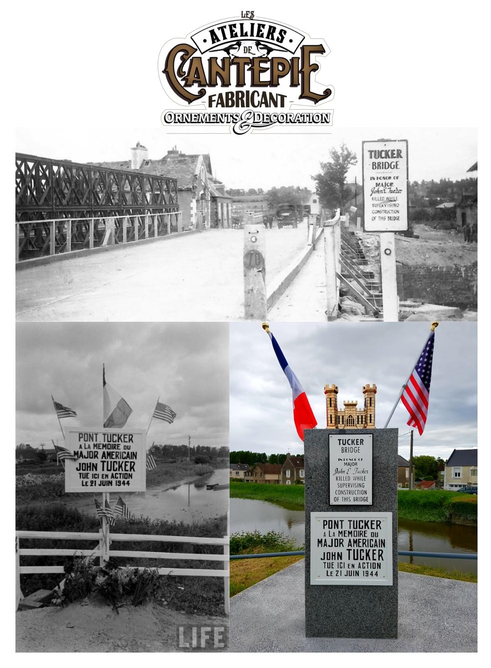 Stèle pont TUCKER Carentan