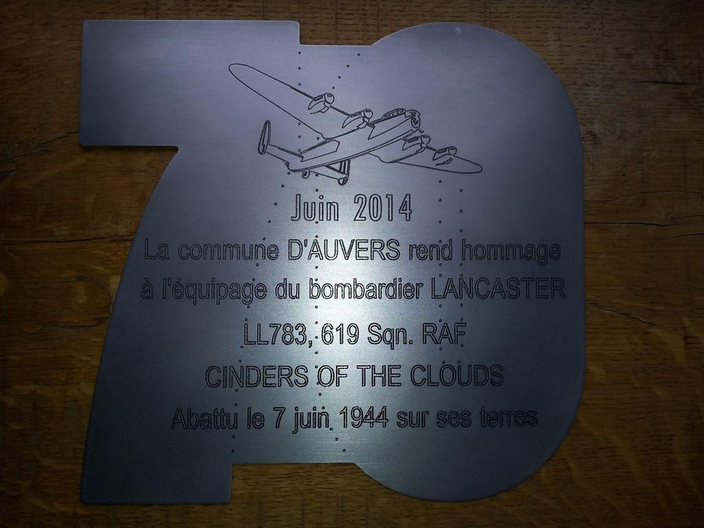 Plaque commémorative en aluminium