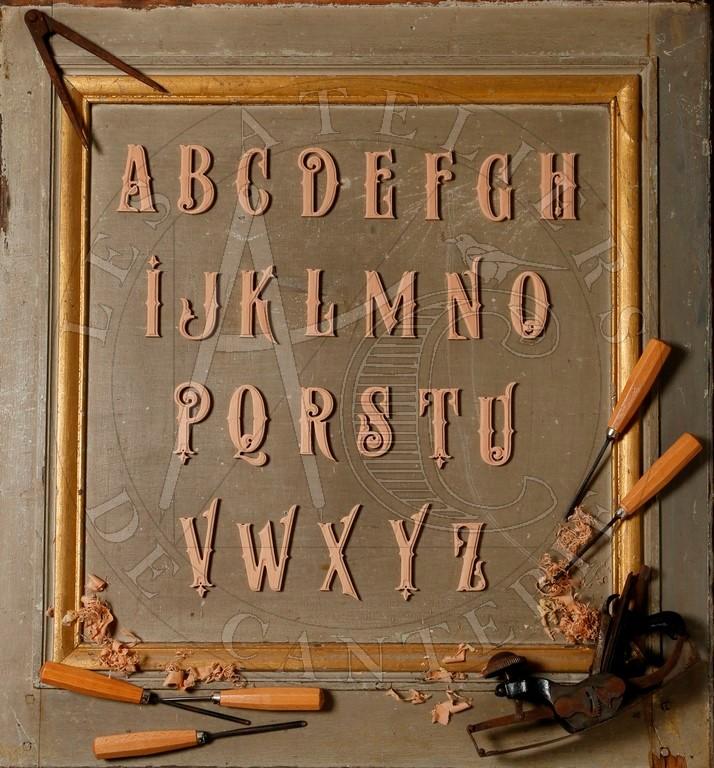 Lettres bois
