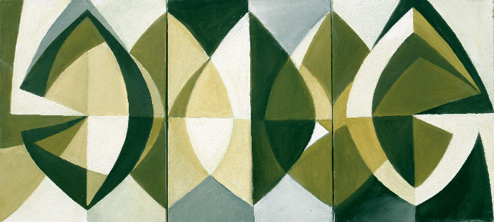 1003 Triptychon, Öl auf Leinwand