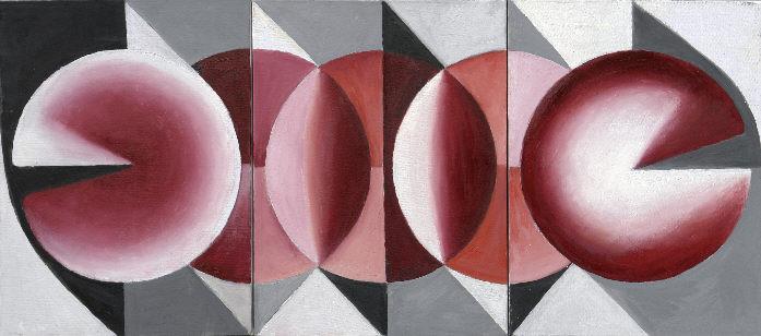 1001 Triptychon, Öl auf Leinwand
