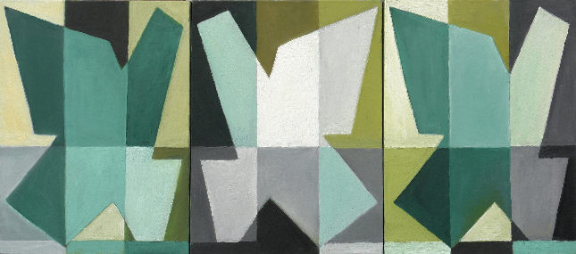 1002 Triptychon, Öl auf Leinwand