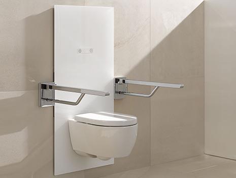 Hewi WC und Stützgriffe verstellbar