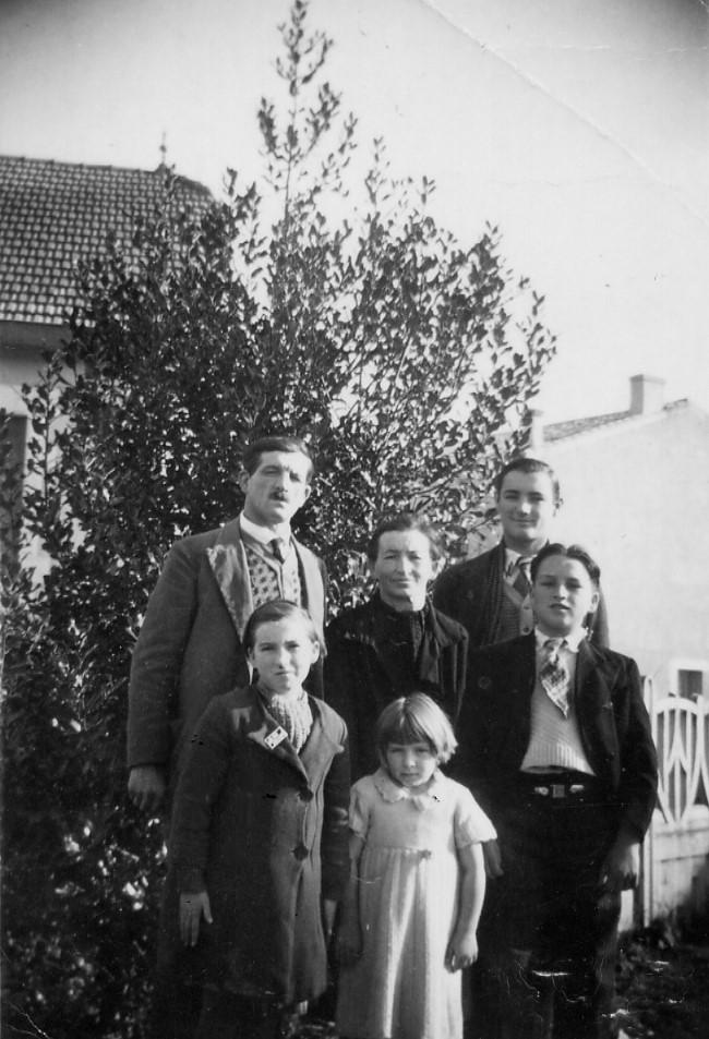 La famille ERAL au MAS D'AGENAIS. François Xavier, Joséphine, Eugène, Alice, Suzanne et Lucien