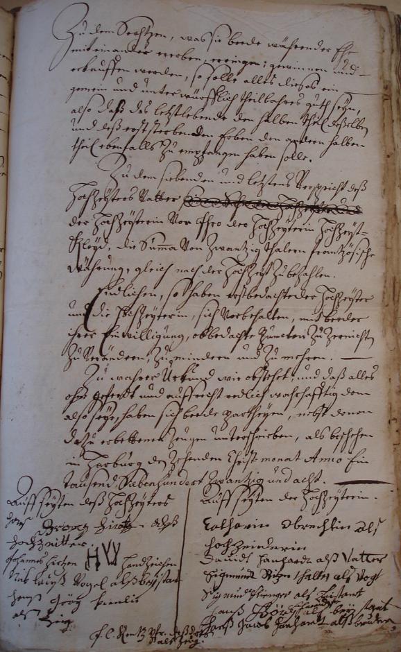 Contrat de mariage de Jean Georges HIRTZ et de Catherine HANNHARDT (veuve OBRECHT), le 10 décembre 1728 à HORBOURG