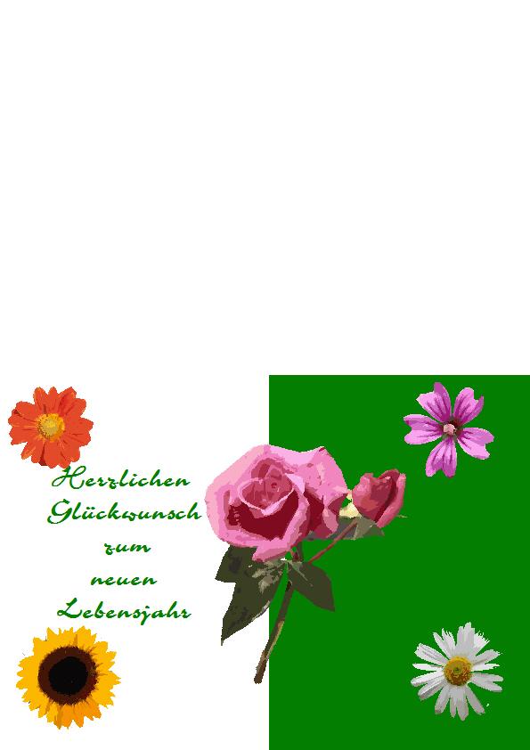 4. Geburtstagskarte