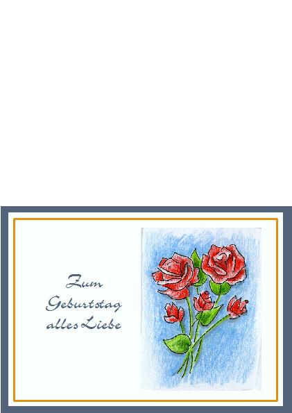 1. Geburtstagskarte