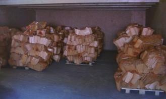 Verlaufslager Holzschindeln