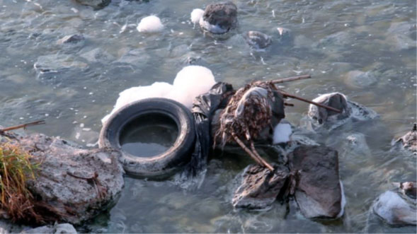 Contaminación en el río Santiago, estado de Jalisco, México.Manuel Hernández / RT