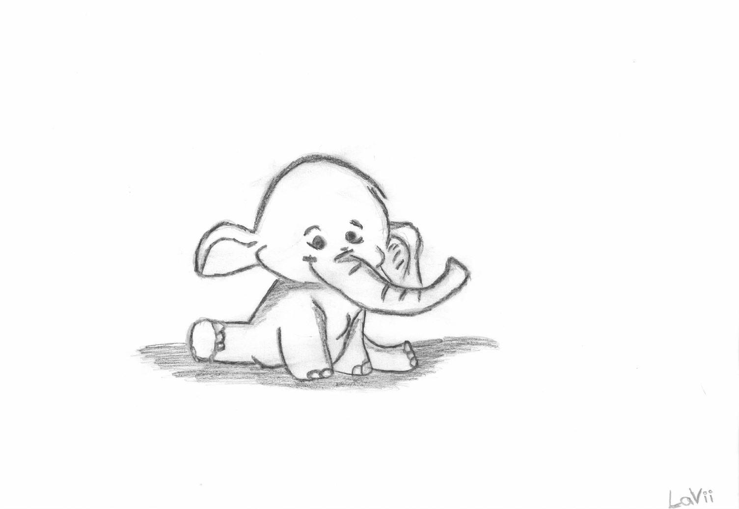 Elefanten waren Katharina's Lieblingstiere, gezeichnet von Ihrer kleinen Schwester