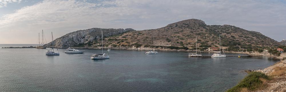 Einer der Naturhafen von Knidos