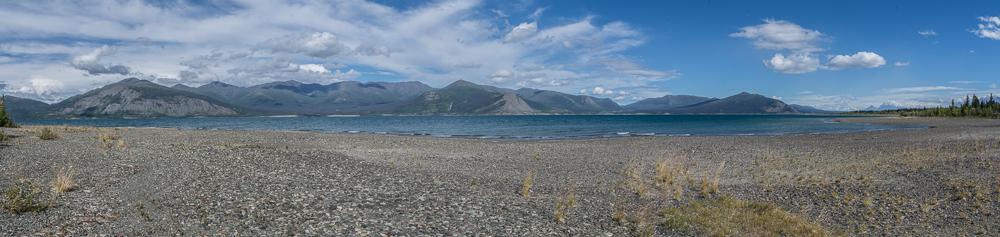 Aussicht von unserem Camp am Kluane Lake