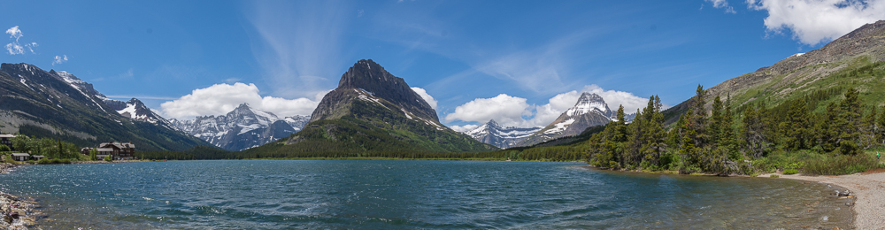 Panorama am Swiftcurrent Lake