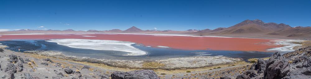 Laguna Colorada, ein Höhepunkt der Route