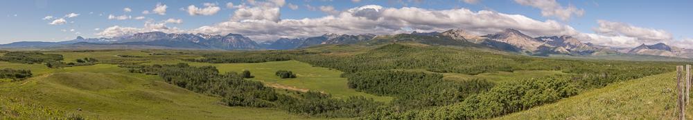 Von der Prairie direkt in die Rockies hoch