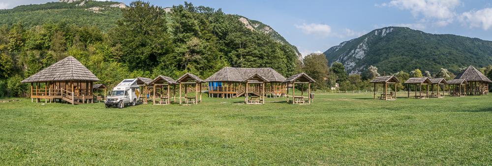 Schönes Camp an der Una, Martin Brod, Una National Park