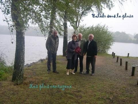 L'étang de Péronne sous la pluie. Ca du charme !...