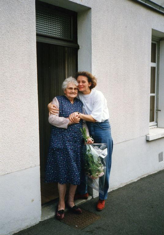 Maman et Christelle pour la fête des grands mères.