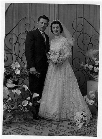 Bernard, Jeannine Turquand le 26/4/1958