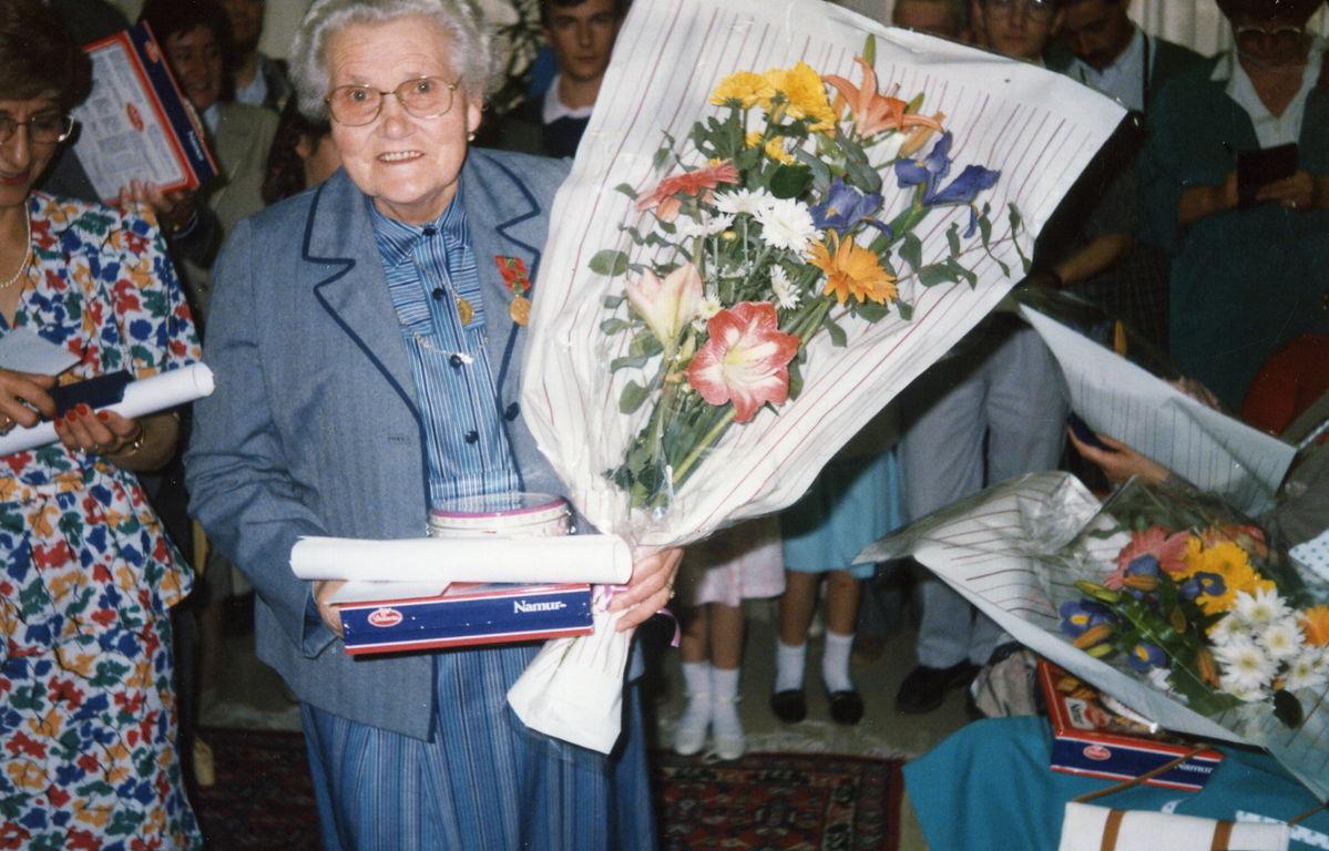C'était le 31 Mai 1987 Maman était décorée par le Député Maire de Cholet