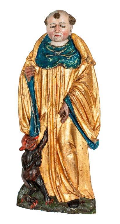 Hl. Bernhard,  H. 66 cm, um 1520, Originalfassung