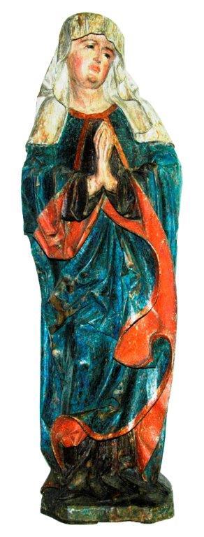 21- Hl. Maria, Südtirol um 1470, H 95 cm, Originalfassung