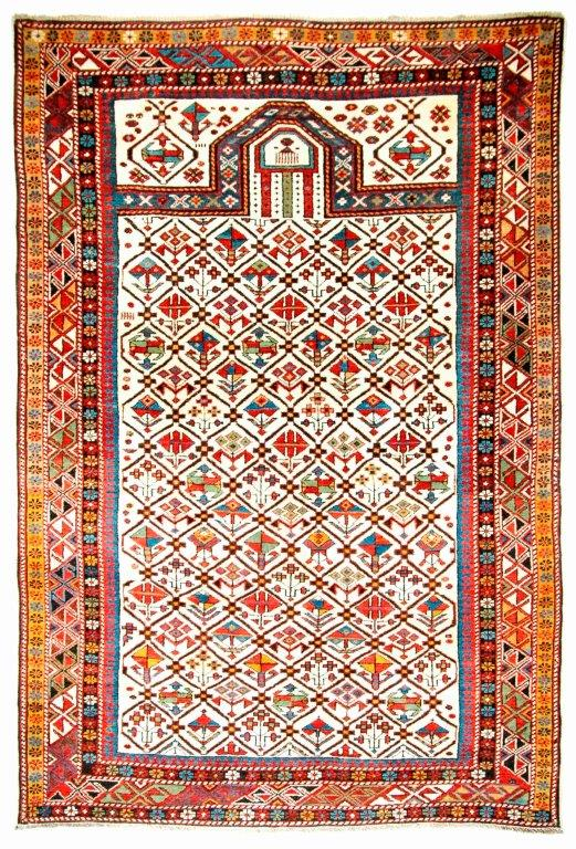 Dagestan Gebetsteppich, Ende 19. Jhdt., 177 x 117 cm,