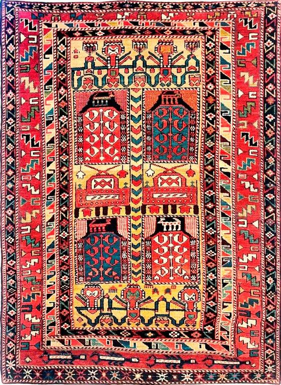 Tachte Shirwan, 19. Jhdt., 177 x 123 cm,