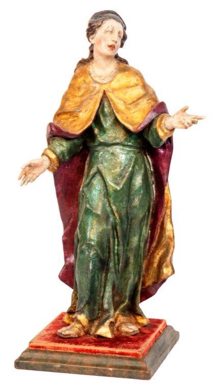 14- Hl. Maria, Joh. Franz Schwanthaler, orig. Lüsterfassung, H 35 cm