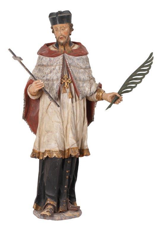 7- Joh. Peter d. Ä. Schwanthaler, Hl. Nepomuk, Höhe 150 cm