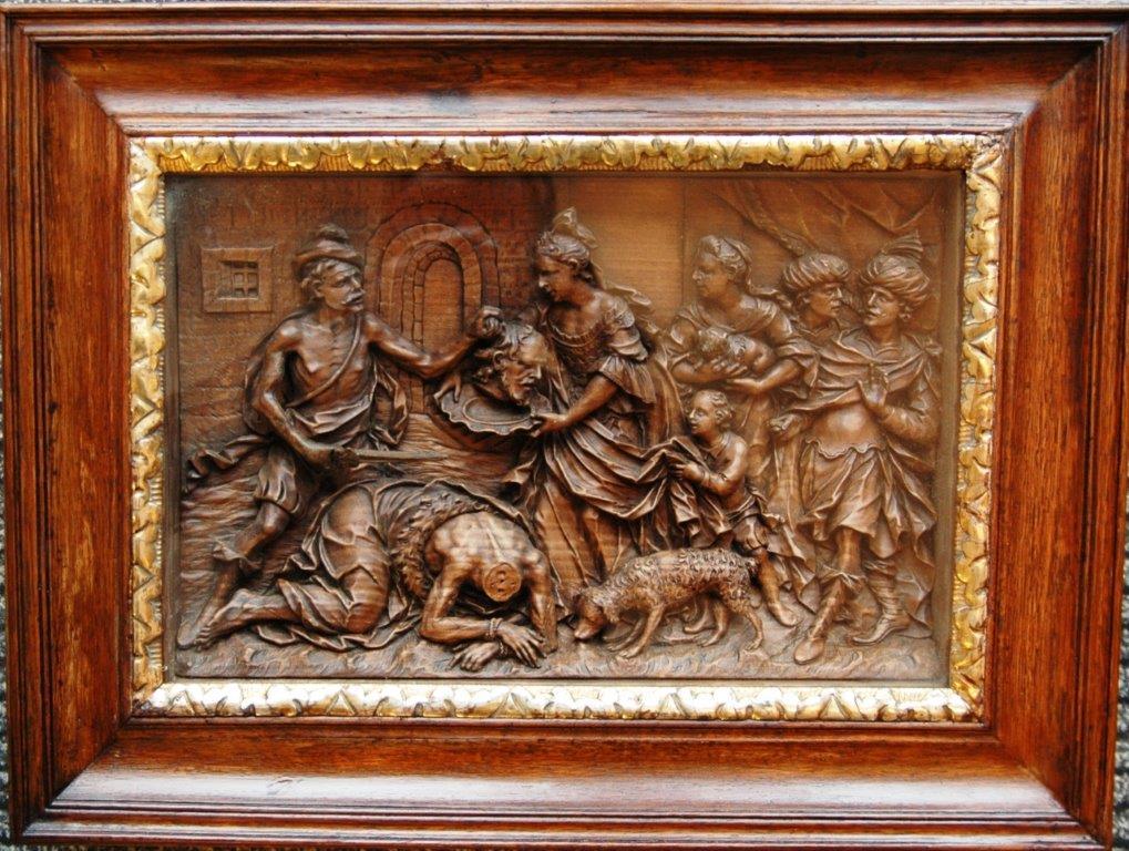 4-  Joh. Peter d. Ältere Schwanthaler um 1770, 27 x 38 cm, Salome mit dem Haupt des Hl. Johannes, Pendant im Barockmuseum Belvedere, Wien