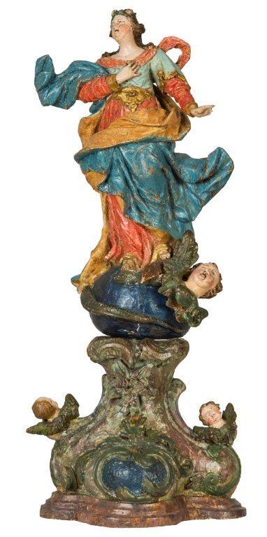 Maria Immaculata, süddeutsch um 1760, 52cm, Originalfassung