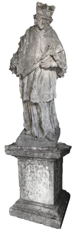 Hl. Johannes Nepomuk, NÖ. Sandstein, H mit Sockel 285 cm –