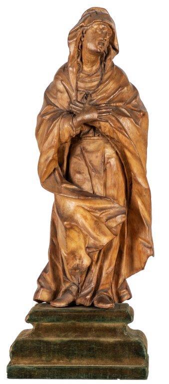 13- Hl Maria - Johann Peter Schwanthaler, Linde um 1770, Höhe 38 cm -